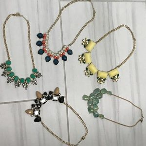 Colorful & chunky statement necklace bundle